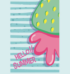 Hello summer concept vector