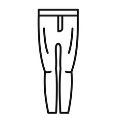 horse riding pants icon outline style vector image