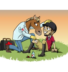 Horse therapy vector image