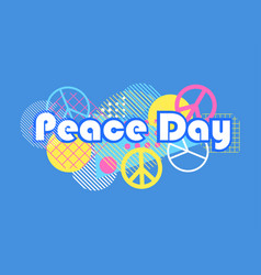 international day of peace geometric elements vector image