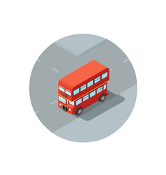 Isometric of red double-decker vector