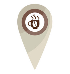 Map pin coffe break vector