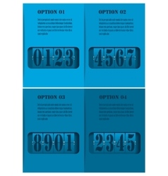 Mechanical timetable vector image