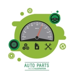 Mileage icon Auto part design graphic vector image