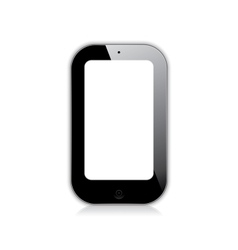 mobile phone black vector image