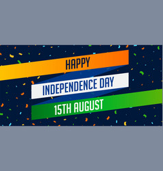 National indian happy independence day vector