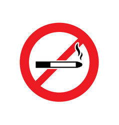 no smoking sign or no smoke icon vector image