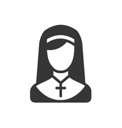 nun simple icon on white background vector image