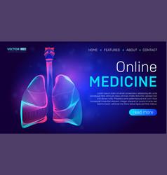 online medicine landing page background concept vector image