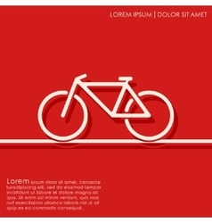 Outline bicycle background vector image