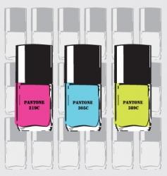 pantone nail polish vector image