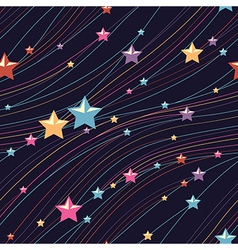 pattern stars vector image