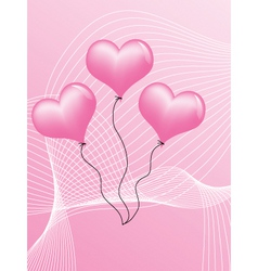 pink hearts vector image