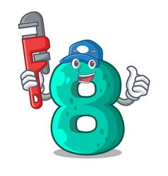 Plumber number eight volume logo the mascot vector