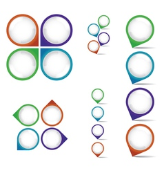 Pointer Pins vector image vector image