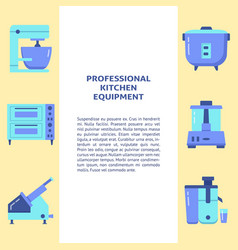professional kitchen equipment banner template in vector image