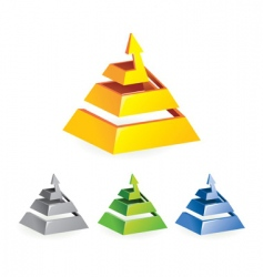 pyramid arrow vector image vector image