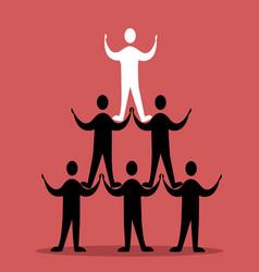 pyramid success concept vector image
