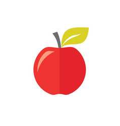 Red apple fruit - concept icon in flat graphic vector