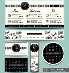 Restaurant Set Menu Graphic Design Template vector image