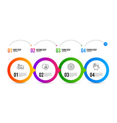 Salary euler diagram and fan engine icons set vector