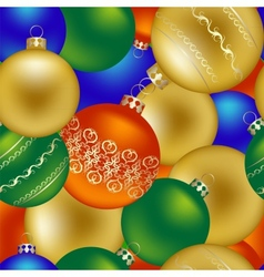 seamless pattern christmas decorations vector image