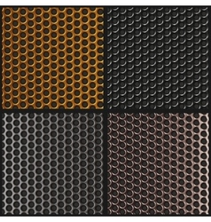 Set metal texture metal grid vector