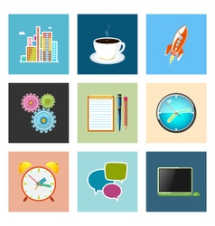 Set of Colorful Business Icons Team Work vector image