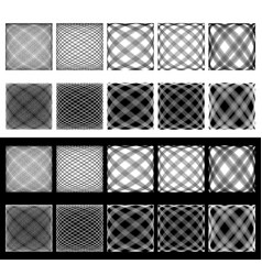 Set of irregular grids meshes intersecting lines vector