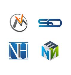 set symbol for business logo design template vector image