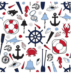 ship items pattern vector image