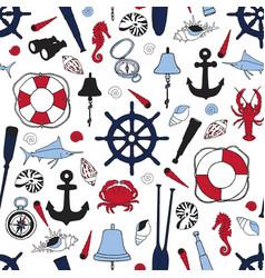 Ship items pattern vector