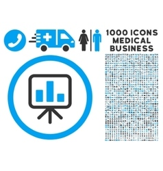 Slideshow Screen Rounded Icon With Medical Bonus vector
