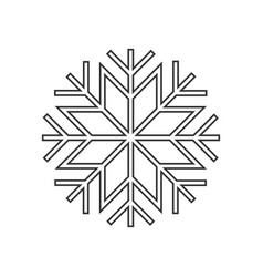 snowflake ornament icon vector image