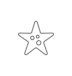Starfish icon outline vector image