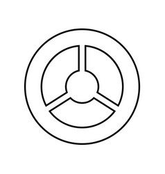 steering wheel black color icon vector image