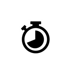 stopwatch icon in flat style for apps ui websites vector image