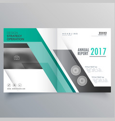 Stylish bifold magazine business brochure design vector