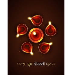 stylish diwali festival vector image