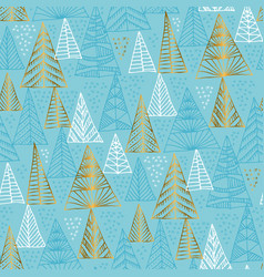 stylized christmas tree seamless pattern vector image