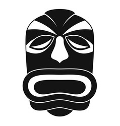 tiki idol mask icon simple style vector image