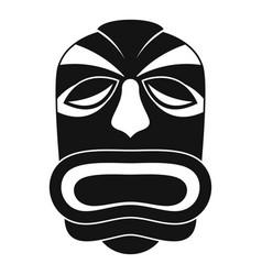 Tiki idol mask icon simple style vector