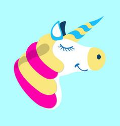 Unicorn icon fantasy world of the unicorn cartoon vector