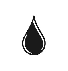 water drop logo design inspiration vector image