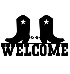 welcome to texas black graphic sign vector image