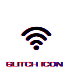 wi-fi icon flat vector image