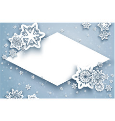 winter card and snow vector image