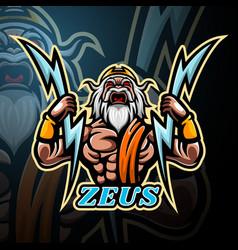 Zeus mascot sport esport logo design vector