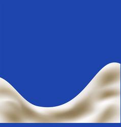 milk or yogurt splash vector image vector image