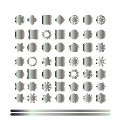 Set of retro silver vintage badges and labels vector image
